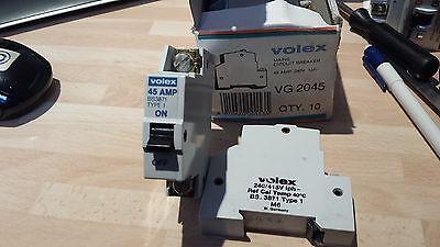 VOLEX 45A VG2045 MCB CIRCUIT BREAKER 45AMP M6 BS3871 VG 2045 OTTERMILL SYSTEM T