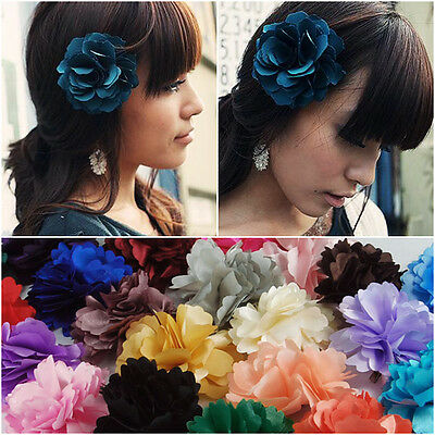 Peony Flower Hair Clip Hairpins Wedding Bridal Hawaii Sweet Beach Decor Party