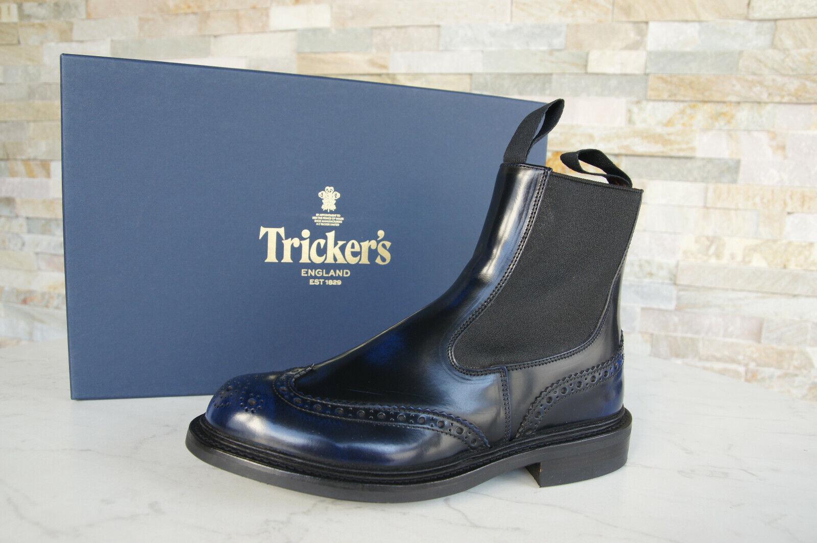 Tricker's Gr 36,5  3,5 Stiefeletten Chelsea Stiefel Schuhe blau NEU ehem