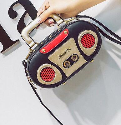 Woman Retro Radio Handbag Shoulder Bag Unique Purses Messenger Waterproof Zipper