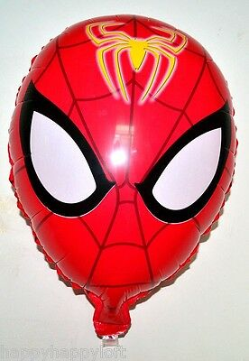 "20"" Spiderman Head Face Large Foil Helium Balloon Boys Birthday Party Decoration"