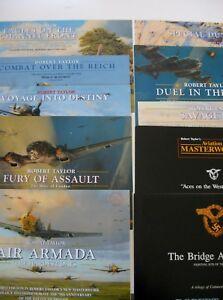 Luftwaffe-Lot-Aviation-Art-Advertising-Flyers-Artist-Robert-Taylor-10-Brochures
