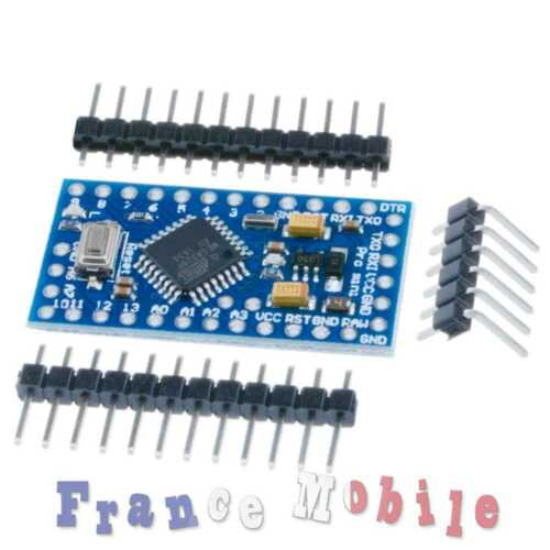 Arduino -compatible Pro Mini Enhancement 3.3V//5V Adjustable 8MHz MEGA328P