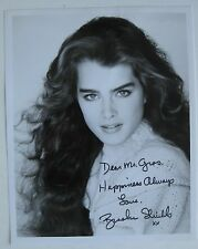 Vtg Hollywood Star Movie & TV Actress Brooke Shields Autographed Photo SIGNED
