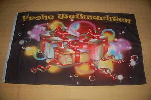 Frohe Weihnachten Päckchen Flagge Fahne Hißflagge Hißfahne 150 x 90 cm
