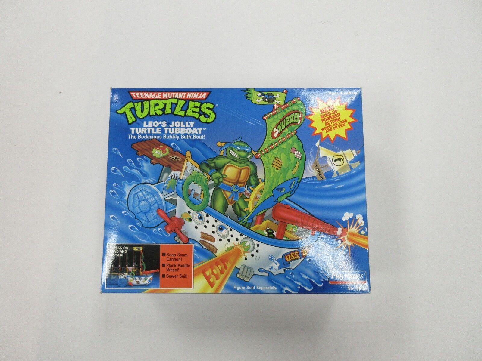 1991 TMNT NINJA TURTLES LEO'S JOLLY TURTLE TUBBOAT FIGURE VEHICLE SEALED
