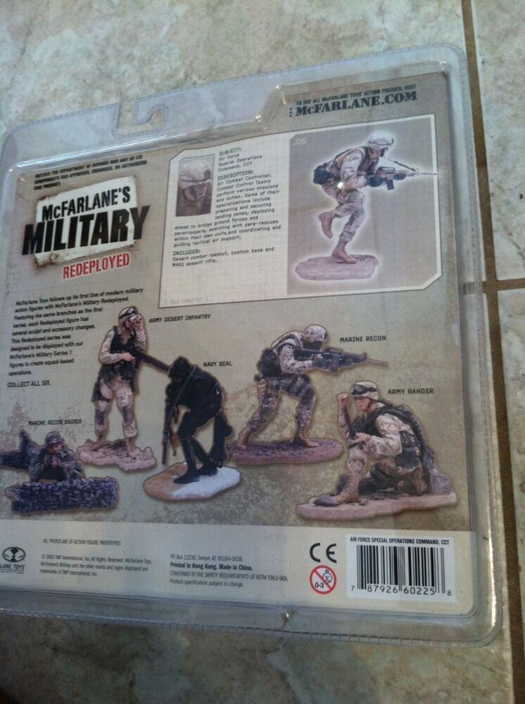MCFARLANE MILITARY SERIES 1 rossoEPLOYED rossoEPLOYED rossoEPLOYED AIR FORCE SOLDIER 0f17b0