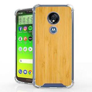 For Moto G7 Power G7 Supra G7 Optimo Maxx Bumper Shockproof Case Wood Bamboo Ebay