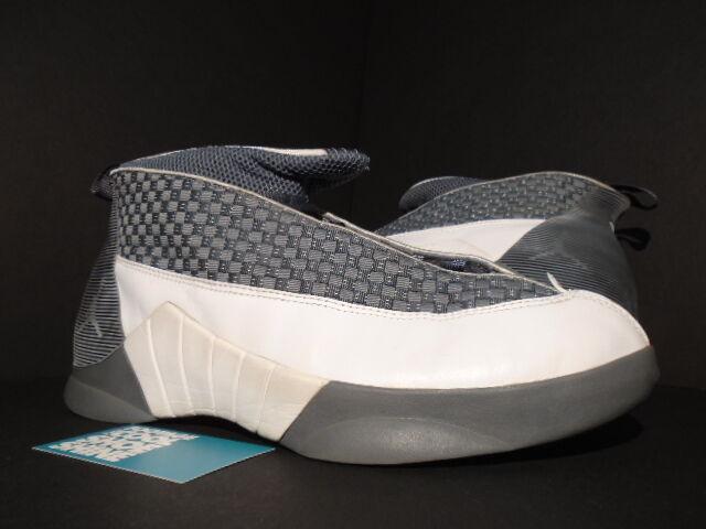 75602420924 2000 ORIGINAL NIKE AIR JORDAN XV 15 COOL GREY WHITE 136029-011 12 FLINT  GREY nxkqpo8853-Athletic Shoes