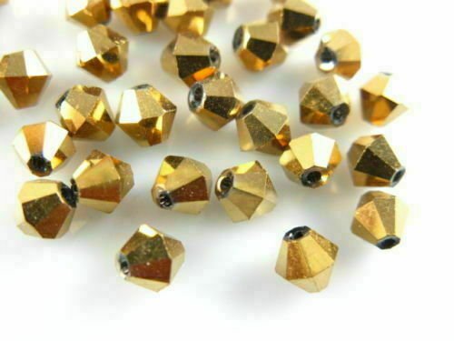 500pcs 4mm Faceted Bicone Crystal Glass Loose Spacer Beads Jewelry Findings#Q