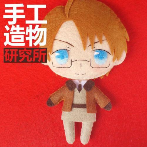 Anime Hetalia APH Alfred·F·Jones DIY Toy Doll Keychain Material