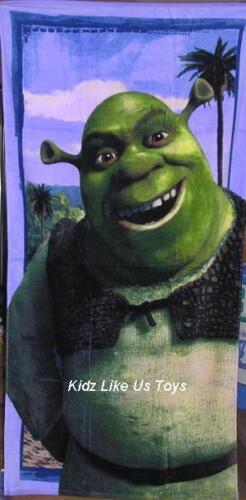 LARGE VELOUR BATH ~ Shrek 2 BEACH TOWEL