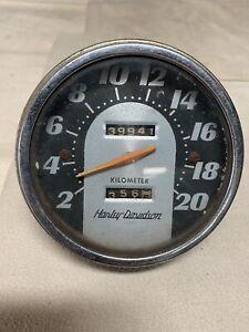 oem-Harley-Davidson-KILOMETER-panhead-Shovelhead-1962-67-Tombstone-Speedometer