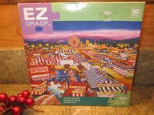 NIGHTTIME-ON-THE-MIDWAY-BY-THELMA-WINTER-Complete-EZ-GRASP-PUZZLE