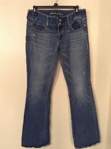 American-Eagle-Women-039-s-Size-6-Stretch-Fit-Artist-Low-Rise-Blue-Denim-Jeans