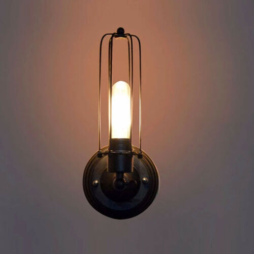 Antique Style Industrial Retro Wall Lights with Metal Cage Shades Vintage Sconce