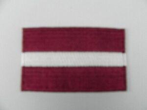 Lettland-Aufnaeher-gestickt-Flagge-Fahne-Patch-Aufbuegler-6-5cm-neu