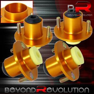 For-88-00-Civic-Crx-4-Pcs-Gold-Jdm-Shocks-Strut-Tower-Top-Hat-Bushing-Bump-Stop