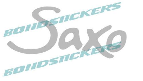 Vinilo de corte pegatina logo emblema SAXO citroen sticker decal autocollant