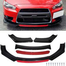 For Mitsubishi Lancer Evolution Eclipse Front Bumper Lip Splitter Spoiler Red Fits 2008 Mitsubishi Lancer