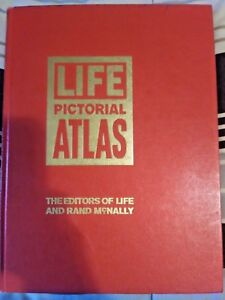 Life-Pictorial-Atlas-of-the-World-w-World-Map-Hardcover-1961