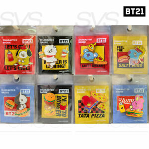 BTS-BT21-Official-Authentic-Goods-Character-Badge-BITE-Ver-Tracking-Number