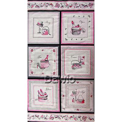 Schuhe, Schuhbox, Taschen, Mode, Panel, 6 Bilder, Patchwork, Stoff, (60x110cm)