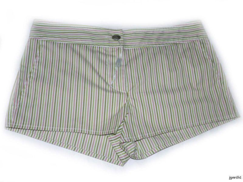 NEW MISSONI striped hot pants short shorts designer 42 6  695 mini sexy