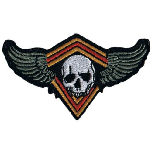 """Iron on Skull with Wings Applique Patch Human Head 3-1//8/"""""""
