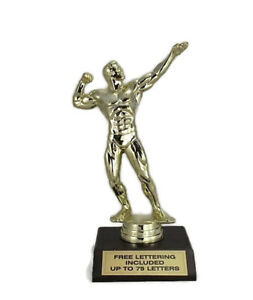 Body-Builder-Trophy-Male-Poser-Strength-Exercise-Fitness-Free-Lettering