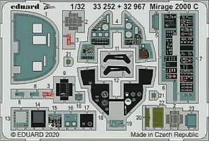 Eduard-Accessories-33252-1-3-2-Mirage-2000-C-pour-Kitty-Hawk-Neuf