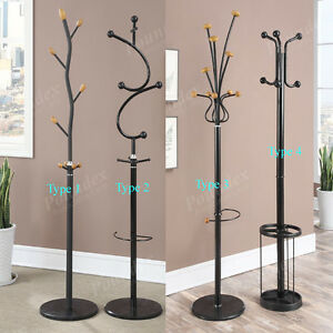 Black 4 Types Modern Special Stand Hall Tree Metal Hanger