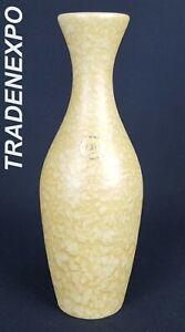 60-70s-Vintage-ILKRA-EDELKERAMIK-Yellow-Vase-237-20-West-German-Pottery-Fat-Lava