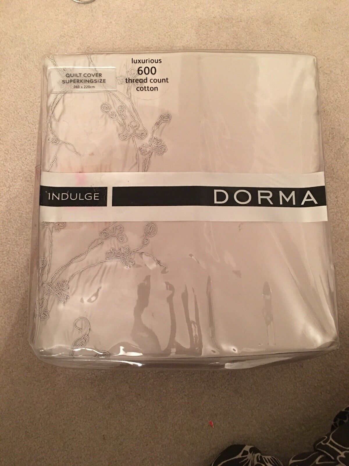 Dorma Superking Quilt Cover Sayuri Laurel 600 Cotton Count Royal Luxurious