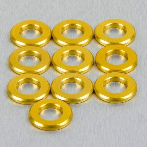 Rondelle en Aluminiums M3 7mm o//d Pk x 10 Or