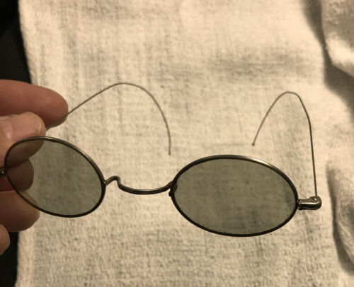 VTG 1930s Or 40's Wire Frame Tinted Lenses Sun Gla