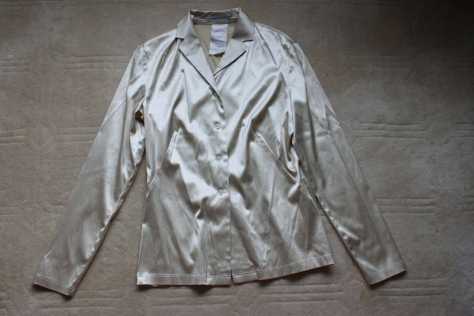 Rene Lezard size 6 silk cotton blouse NWOT made in Germany 40.00