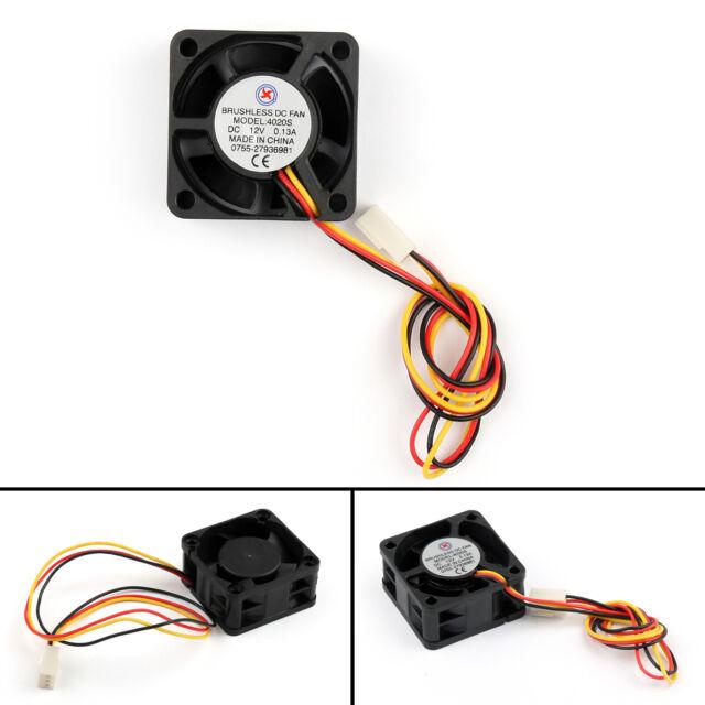 1x DC Sin Escobillas Ventilador Refrigeración 12V 0.13A 4020s 40x40x20mm 3Pin ES