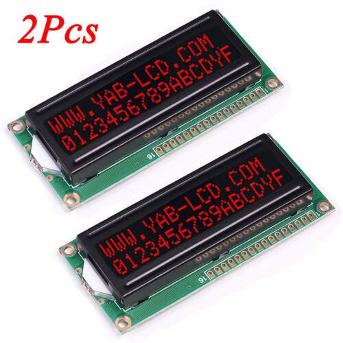 2Pcs 5V 1602A Screen LCD 16x2 Red Character Dot LCD Matrix 1602 Display Lot