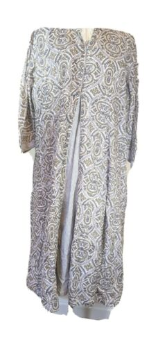 XL Anokhi 2 pc  Block Printed Floral White  Botani