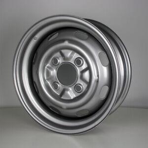 15-Zoll-Stahlfelge-lackiert-4-Loch-ET25-fuer-VW-Kaefer-Cabrio-OE-135601025-VAG
