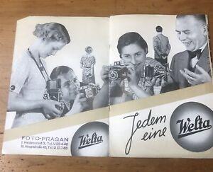 Vintage-1938-Germany-Camera-Advertising-Welta-Catalogue-Weltur-Welti-Antique-30s