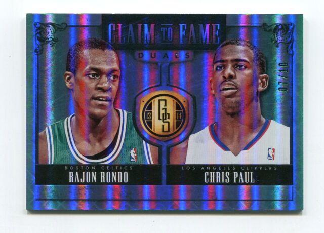 Chris Paul Rajon Rondo 1/10 2013-14 Gold Standard Claim To Fame Duals Platinum