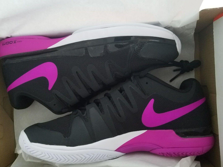 NikeCourt 2016 Women's Zoom Vapor 9.5 631475-002 Tour Tennis Shoes Black/Purple 631475-002 9.5 88e12a