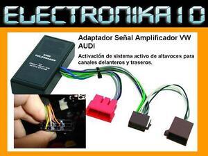 Adaptador-SENAL-AUDIO-AUDI-SEAT-VOLKSWAGEN-Activador-amplificador-Activo