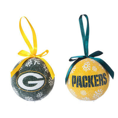 NFL Christmas Tree Hanging LED Light Ornament Set -6 PACK SET! - 3 Of Each Style
