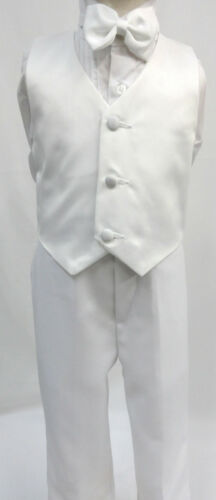 INFANT BOY /& TODDLER  WEDDING FORMAL PARTY  TUXEDO SUIT WHITE S M L XL 2T 3T 4T