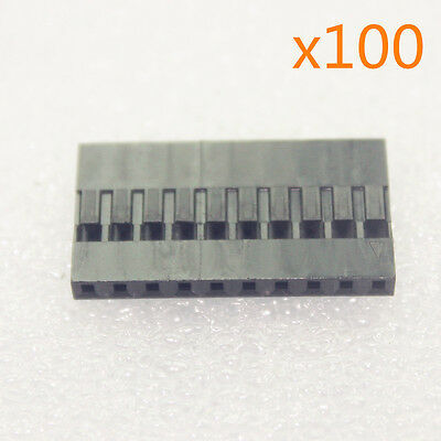 100pcs 2.54mm 10P Pitch Dupont Jumper Wire Cable Housing Female Pin Connector