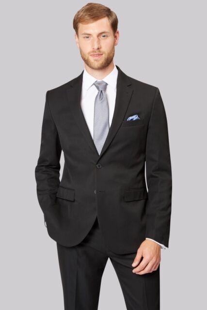 a4a3a550 Moss Esq. Regular Fit Black Notch Lapel Suit Jacket 52l Td171 UU 02 ...