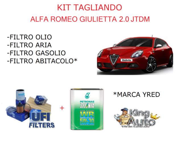 KIT TAGLIANDO FILTRI UFI + 5LT OLIO SELENIA 5W30 ALFA ROMEO GIULIETTA 2.0 JTDM